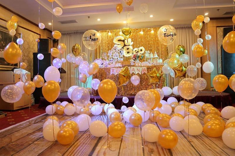 Cách trang trí tiệc sinh nhật bằng bóng bay ấn tượng dành cho bé yêu