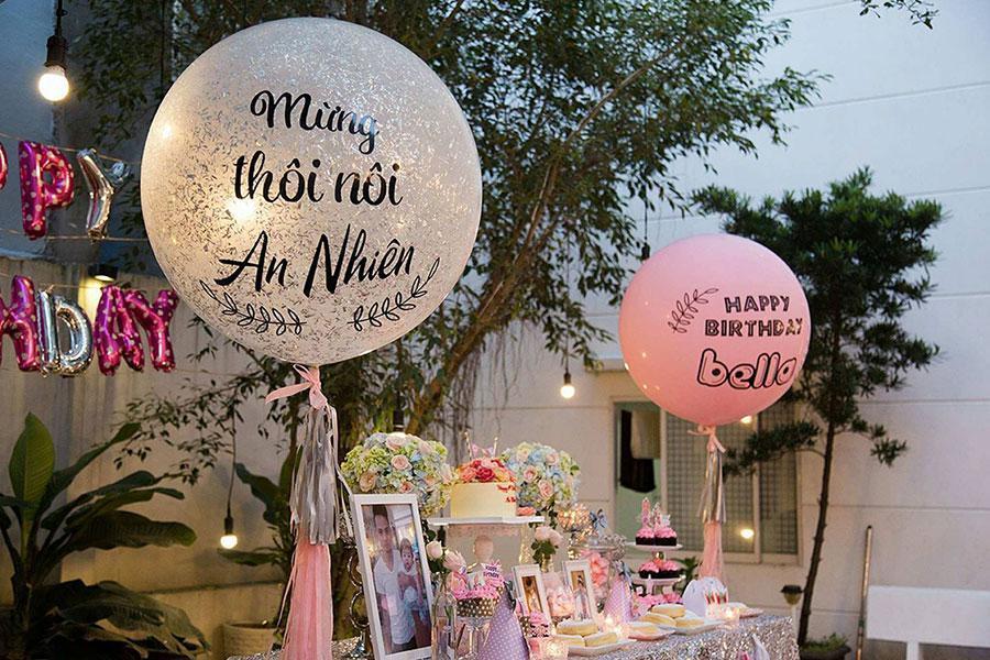 Tổ chức tiệc đầy tháng với những cách trang trí tiệc tại nhà ấn tượng